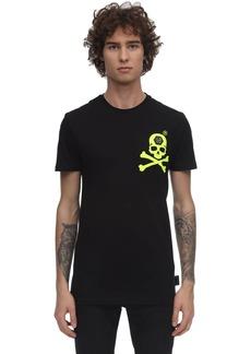 Philipp Plein Print & Patch Cotton Jersey T-shirt