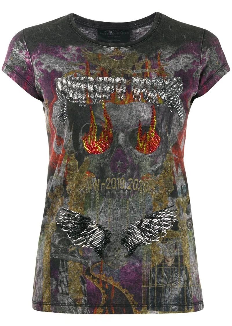 Philipp Plein rhinestone embellished T-shirt