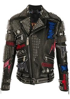 Philipp Plein Rock PP biker jacket
