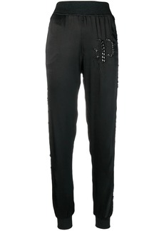 Philipp Plein sequin embellished track pants