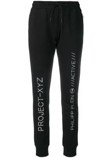 Philipp Plein sequinned logo jogging bottoms