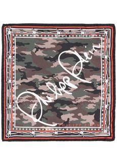Philipp Plein Signature-print silk scarf