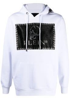 Philipp Plein skull crystal hoodie