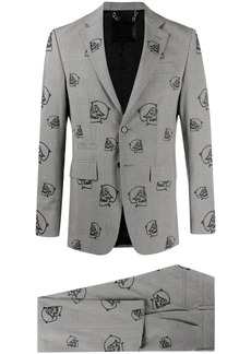 Philipp Plein skull embroidered two-piece suit