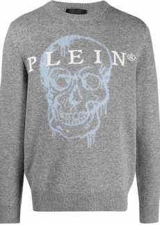 Philipp Plein skull intarsia-knit jumper