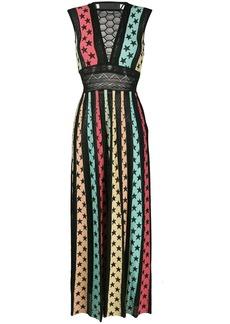 Philipp Plein Star print panelled maxi dress