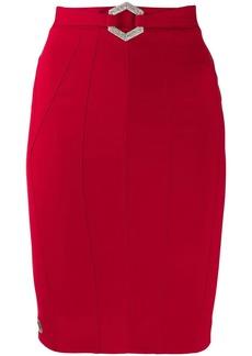 Philipp Plein stretch-cady fitted skirt