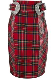 Philipp Plein Tartan pencil skirt