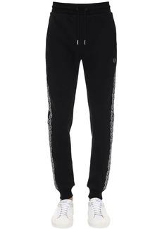Philipp Plein Tech & Cotton Jersey Track Pants