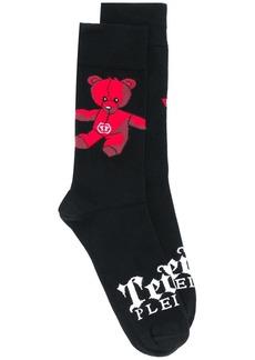 Philipp Plein Teddy Bear mid-calf socks