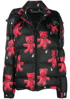 Philipp Plein teddy bear print puffer jacket