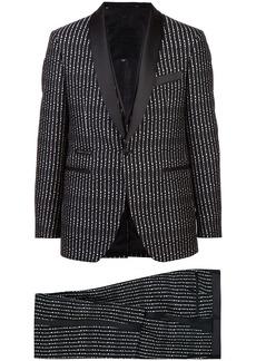 Philipp Plein three-piece pinstriped suit