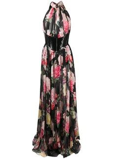 Philipp Plein Vittoria floral print gown
