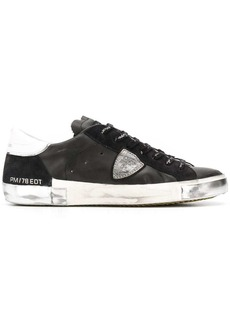 Philippe Model distressed low-top trainers