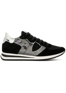 Philippe Model mesh suede trainers