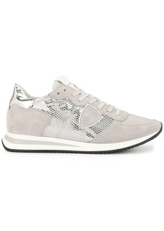 Philippe Model metallic panel lace-up sneakers