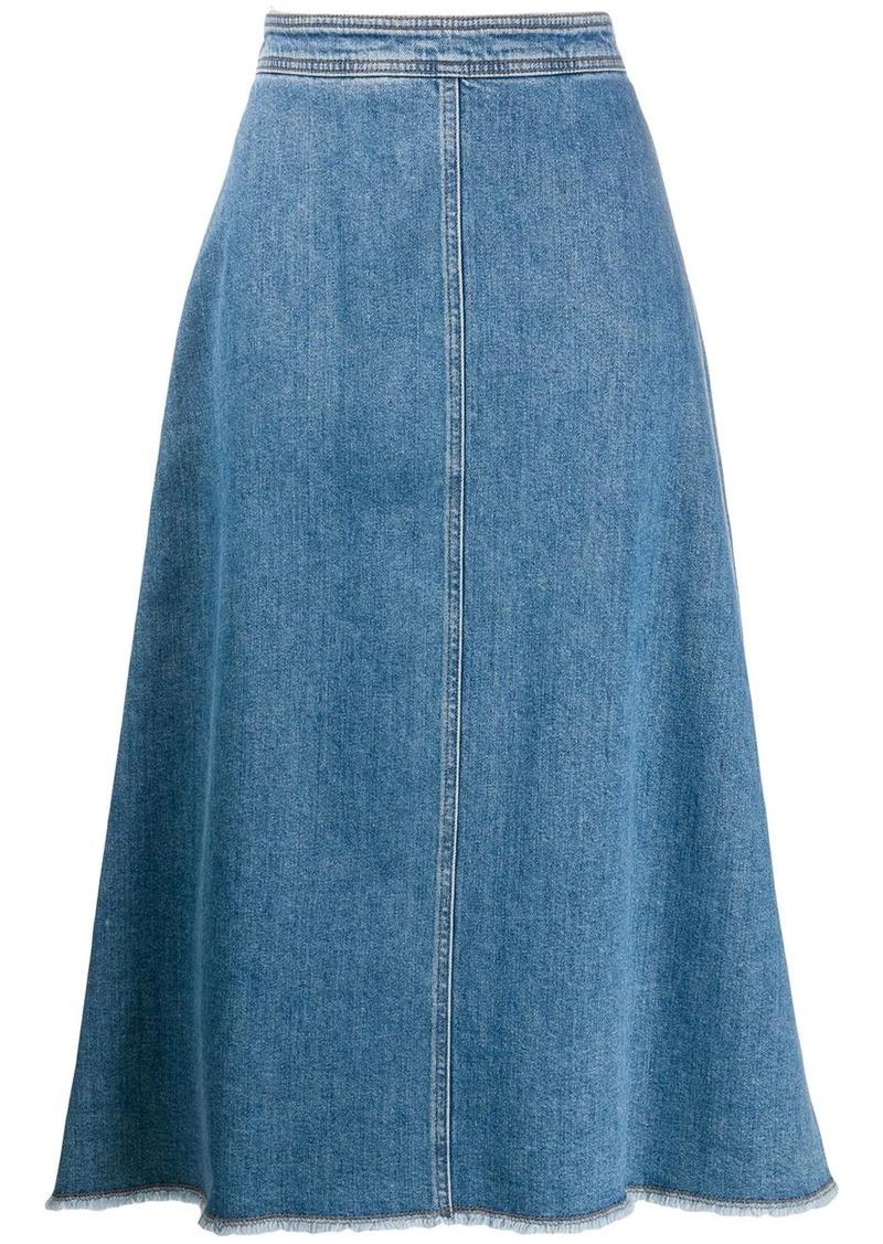 Philosophy A-line denim skirt