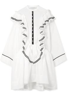 Philosophy Ali Ruffled Cotton-voile And Point D'esprit Mini Dress