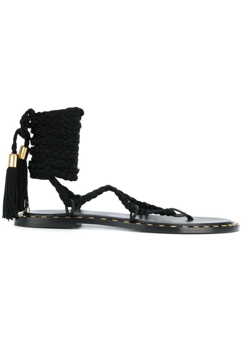 Philosophy ankle tied sandals