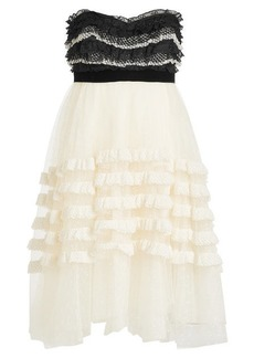 Philosophy Bandeau Dress with Lace and Tulle