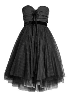 Philosophy Bandeau Dress with Tulle Skirt