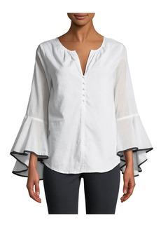 Philosophy Bell-Sleeve Button Front Shirt