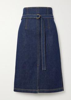 Philosophy Belted Denim Skirt