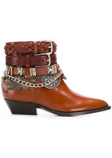 Philosophy buckled pointed boots