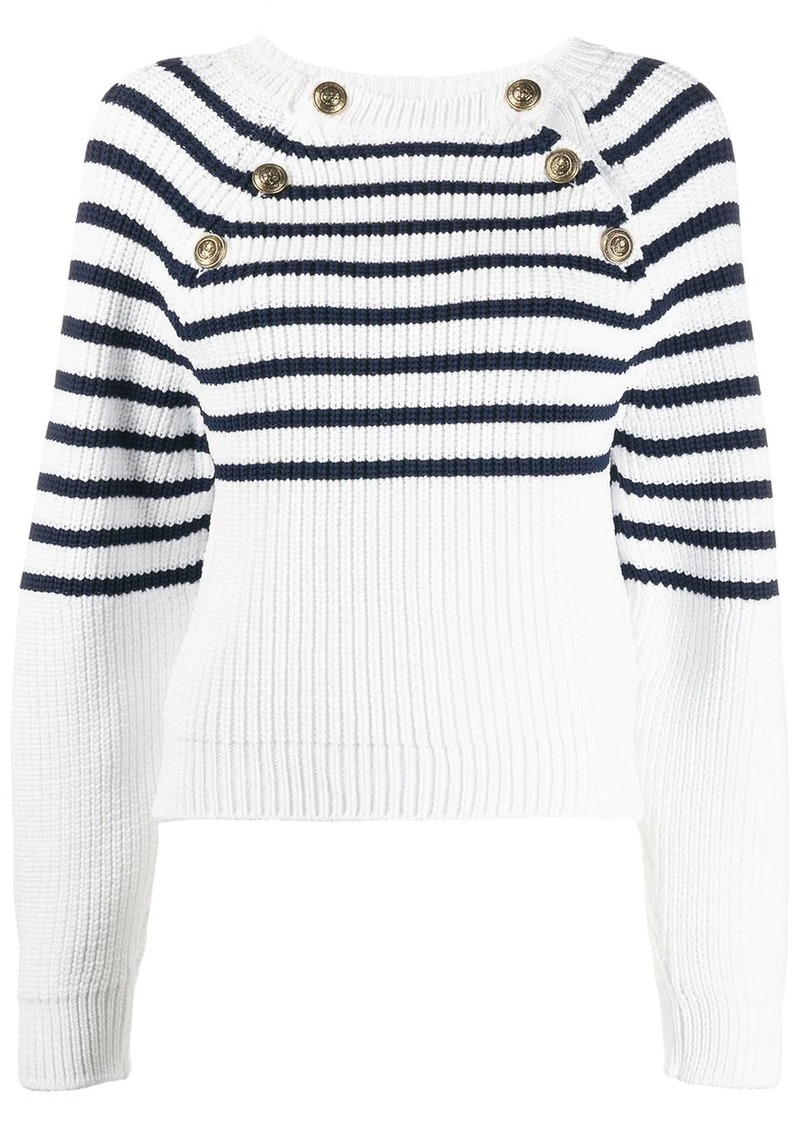 Philosophy cable knit button down jumper