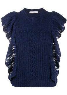 Philosophy cashmere ruffle short-sleeve jumper