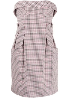 Philosophy check-print fitted mini dress