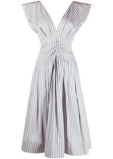 Philosophy check-print midi dress
