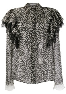 Philosophy cheetah print blouse