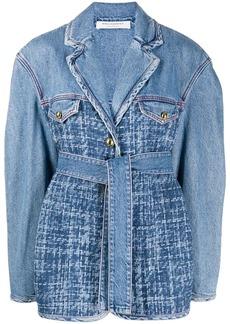 Philosophy combined belted denim jacket