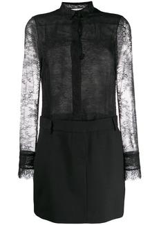 Philosophy combined lace shirt dress