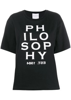 Philosophy contrast logo T-shirt