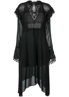 Philosophy crochet detail sheer dress