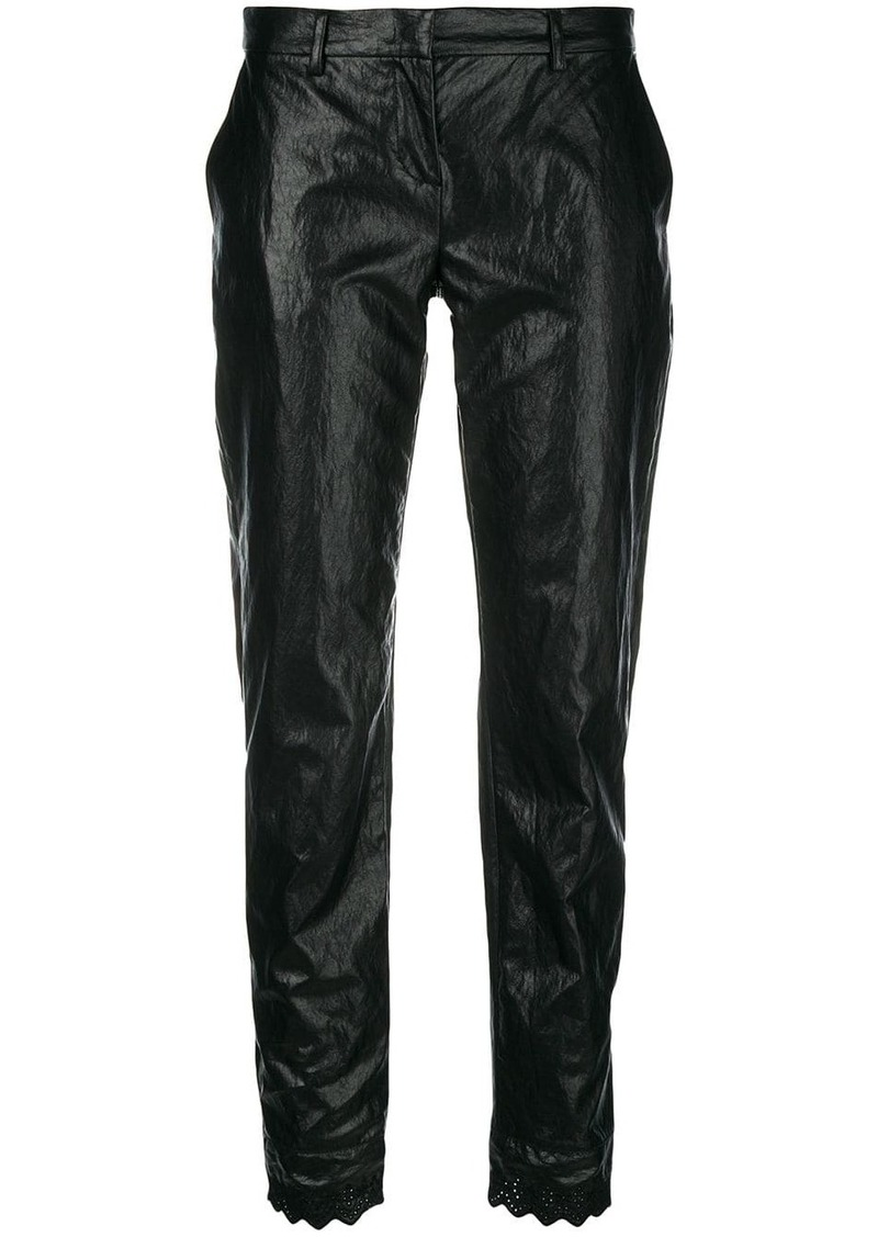 Philosophy cropped straight leg trousers
