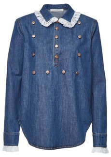 Philosophy Denim Blouse with Lace