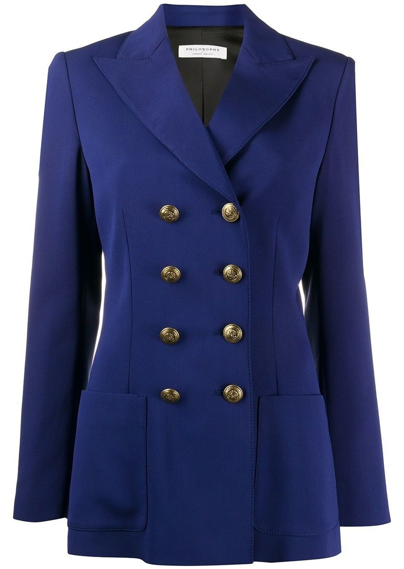 Philosophy double-breasted fitted blazer