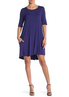 Philosophy Elbow Sleeve Knit Swing Dress