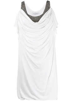 Philosophy embellished draped-front dress