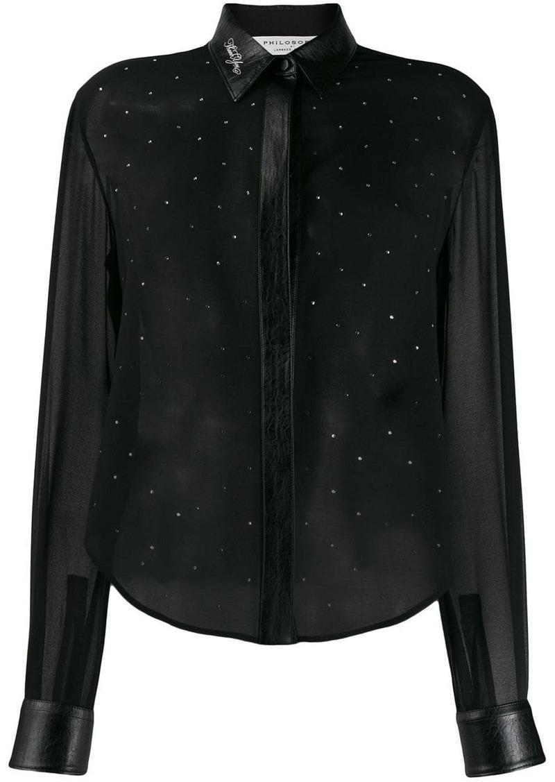 Philosophy embellished long sleeve blouse
