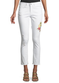 Philosophy Embroidered Cropped Skinny Jeans