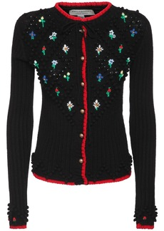 Philosophy Embroidered Knit Wool Cardigan