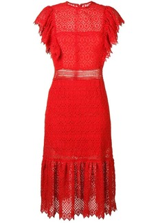 Philosophy embroidered style midi dress