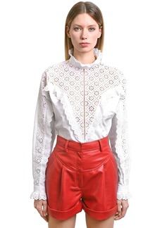 Philosophy Eyelet Lace & Poplin Shirt