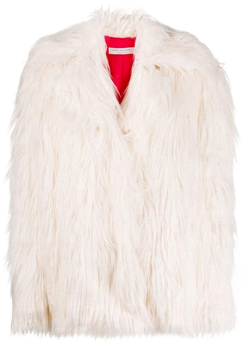 Philosophy faux fur jacket