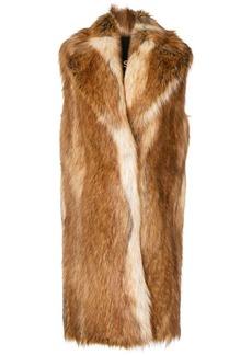 Philosophy faux fur sleeveless coat