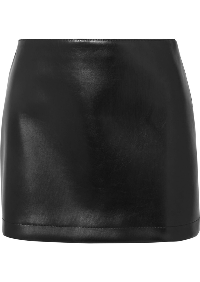 Philosophy Faux Leather Mini Skirt